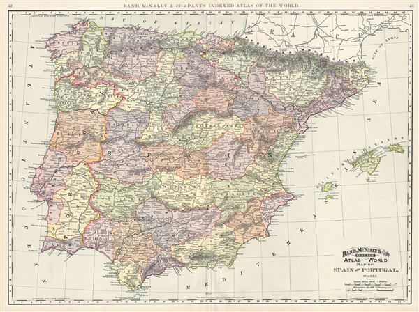 Map of Spain and Portugal. - Main View