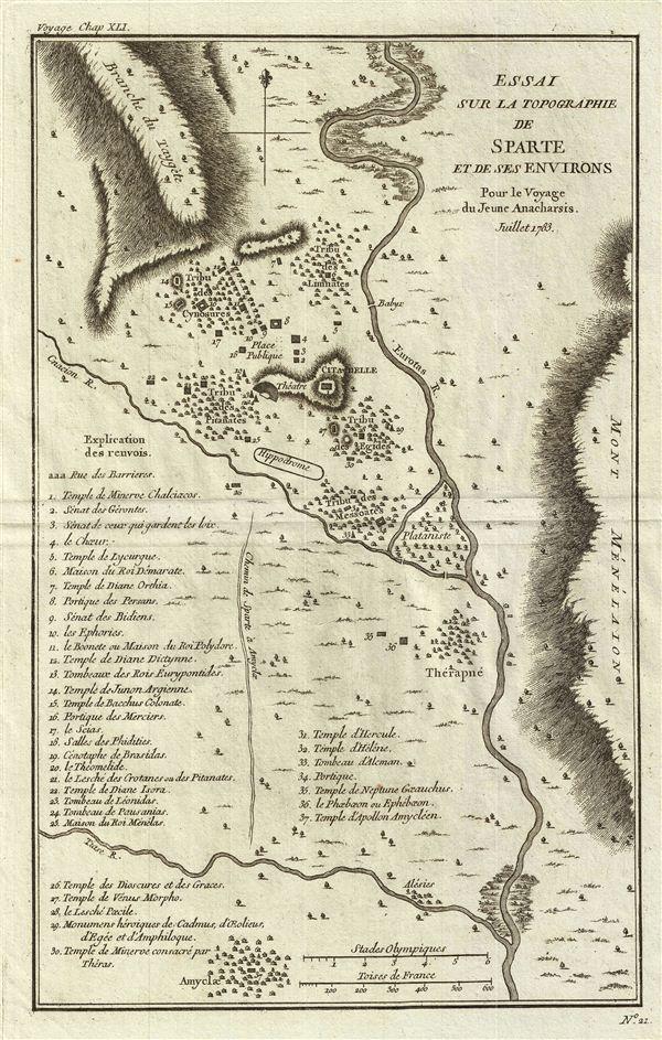 Essai sur la Topographie de Sparte et de ses Environs Pour le Voyage du Jeune Anacharsis.