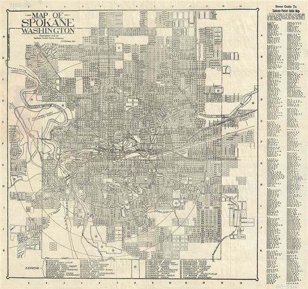 Map of Spokane Washington.