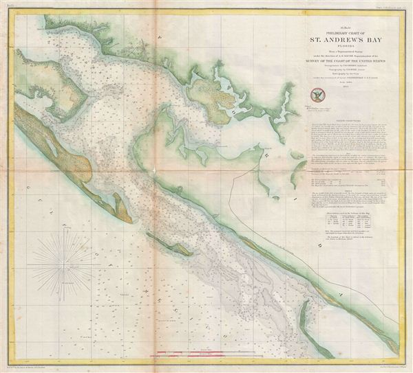 (G No. 4) Preliminary Chart of St. Andrew's Bay Florida.