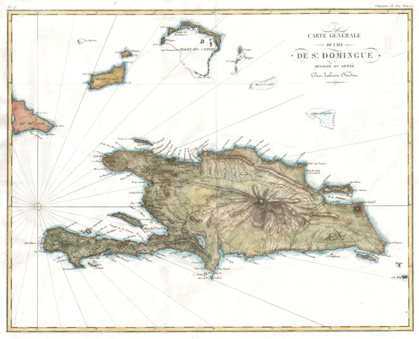Carte G�n�rale de l'Ile de St. Domingue.