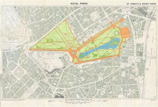 Royal Parks. St. James's & Green Parks.: Geographicus Rare Antique