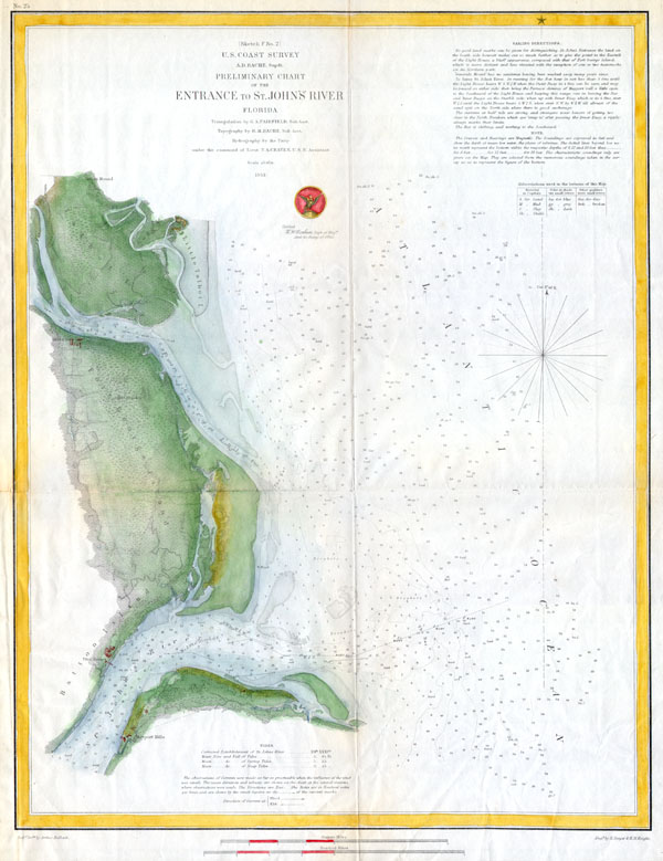 (Sketch F  No. 2) Preliminary Chart of the Entrance St. John's River Florida. - Main View