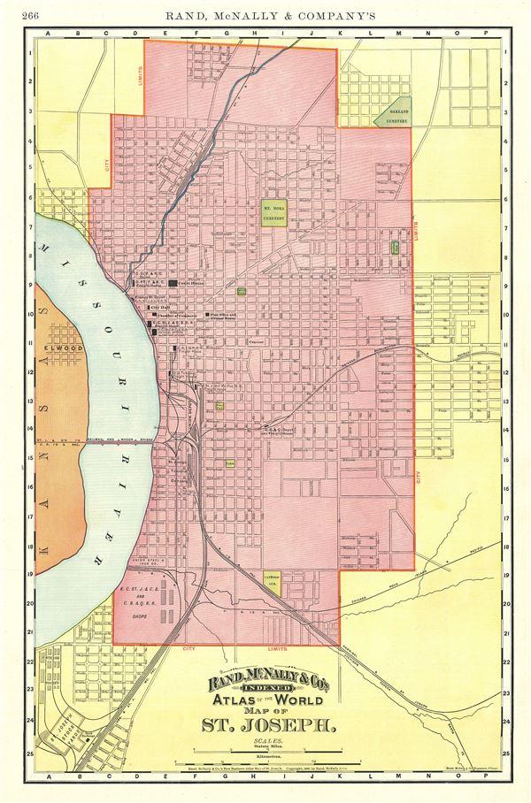 Map of St. Joseph. - Main View