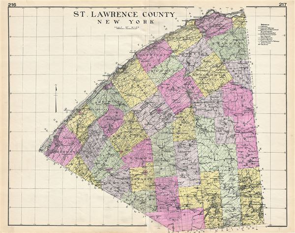 St. Lawrence County New York.