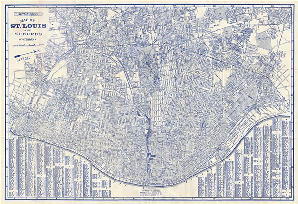 Map of St. Louis and Suburbs.: Geographicus Rare Antique Maps