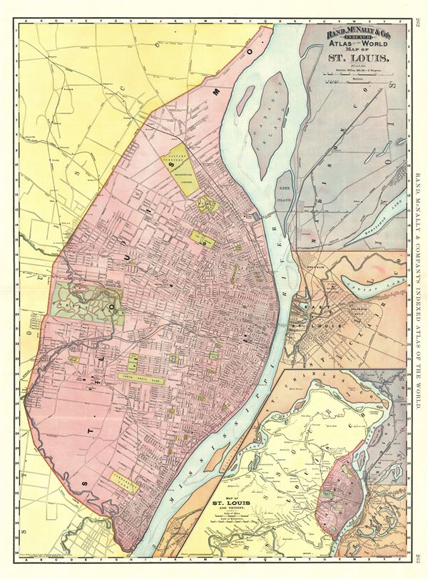 Map of St. Louis.