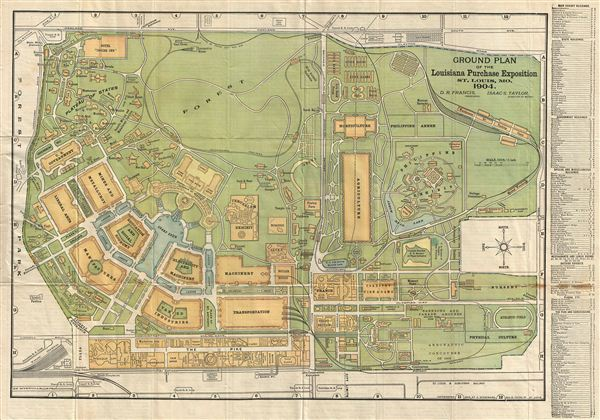 Ground Plan of the Louisiana Purchase Exposition St. Louis, Mo. 1904. - Main View