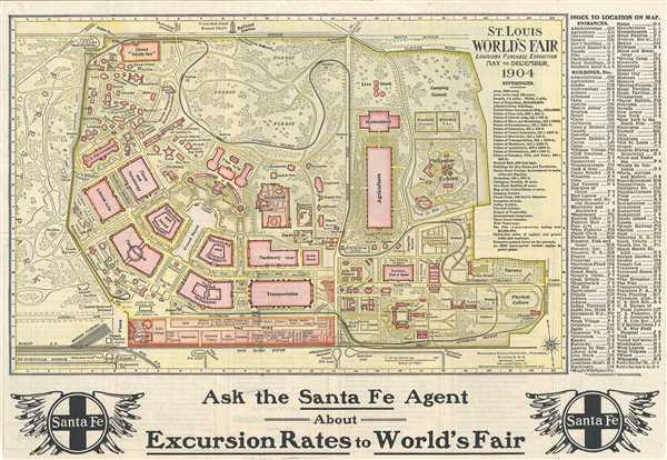 St. Louis World's Fair Louisiana Purchase Exposition May to December 1904.