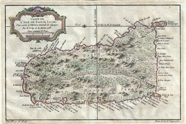 Carte de l'Isle de Sainte Lucie.