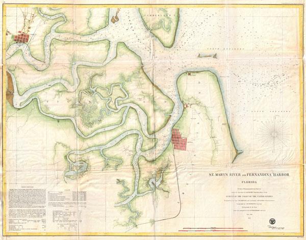 St. Mary's River and Fernandina Harbor Florida. - Main View