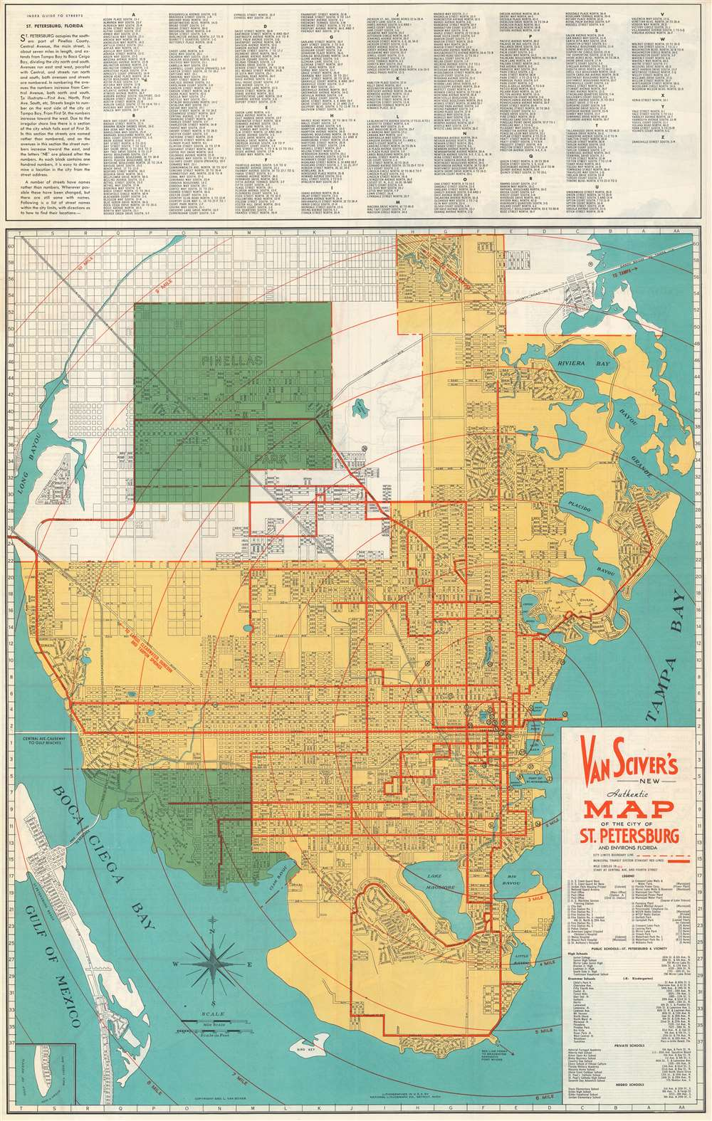 saint petersburg florida map Van Sciver S New Authentic Map Of The City Of St Petersburg And