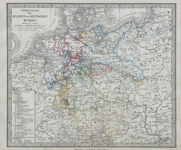Uebersicht der Staaten des Deutschen Bundes.