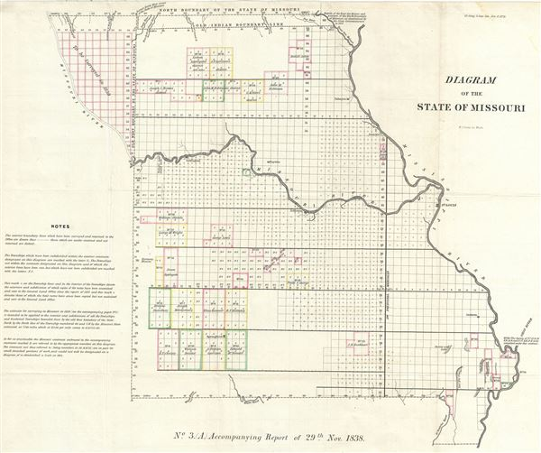 Diagram of the State of Missouri. - Main View