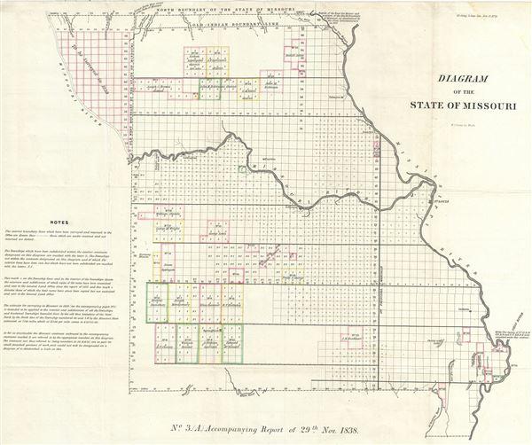 diagram of the state of missouri geographicus rare antique maps rh geographicus com Delta Dental of Missouri Delta Dental of Missouri