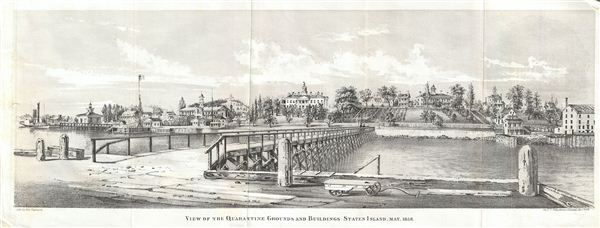 View of the Quarantine Grounds and Buildings. Staten Island, May 1858.