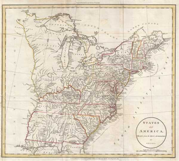 1811 Russell Map of the United States