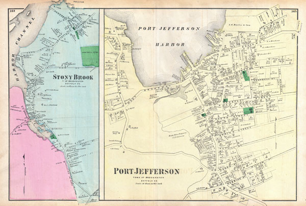 Port Jefferson, Town of Brookhaven, Suffolk Co. / Stony Brook, Town of Brookhaven, Suffolk, Co.