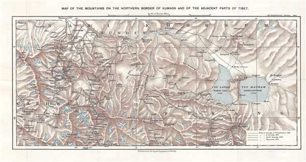 Map of the Mountains on the Northern Border of Kumaon and of the Adjacent Part of Tibet.