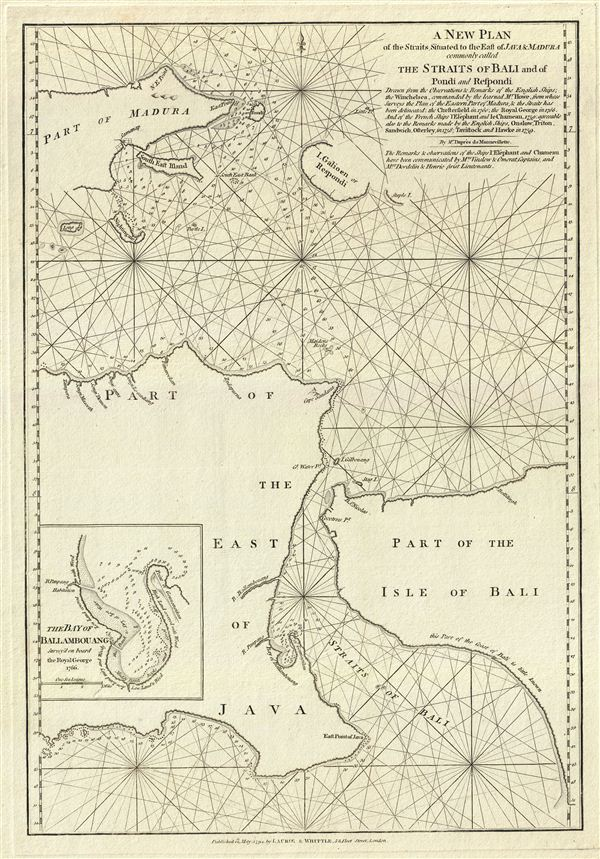 A New Plan of the Straits Situated to the East of Java & Madura commonly called The Straits of Bali and of Pondi and Respondi. - Main View