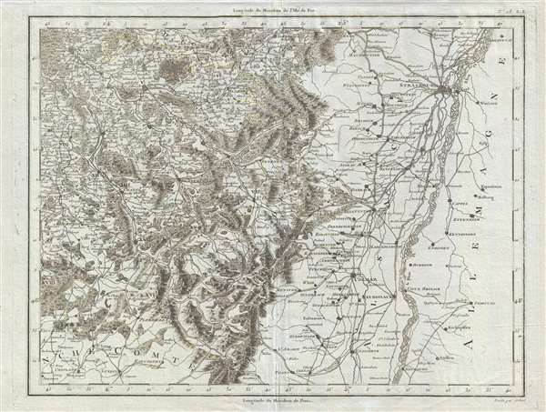 Strasbourg and Alsace Geographicus Rare Antique Maps