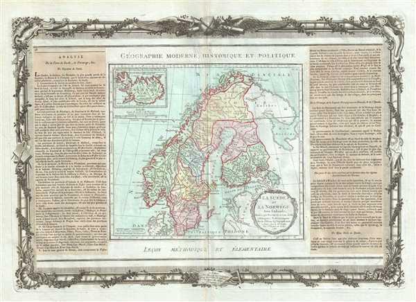 La Suede et La Norwege Avec l'Islande.
