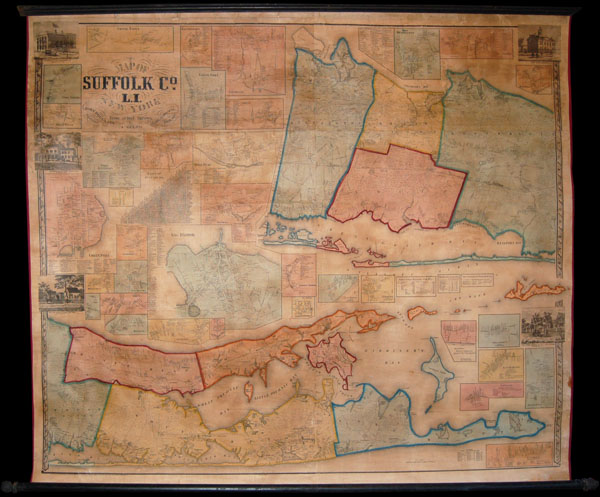 Map of Suffolk Co. L.I. New York - Main View