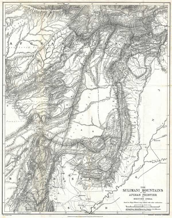 The Sulimani Mountains on the Afghan Frontier of British India. Based on Major Wilson's map, collated with other authorities.