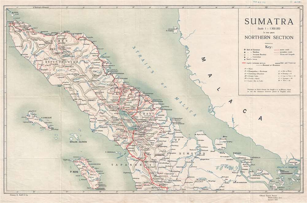 Sumatra In two parts. Northern Section.: Geographicus Rare Antique on map with mekong river, map with bali, map with marco polo, map with amazon rainforest, map with hispaniola, map with indonesia,