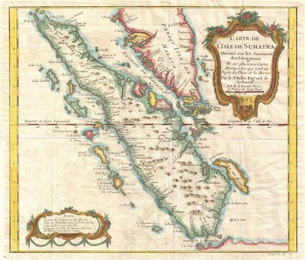 Carte de L'Isle de Sumatra.