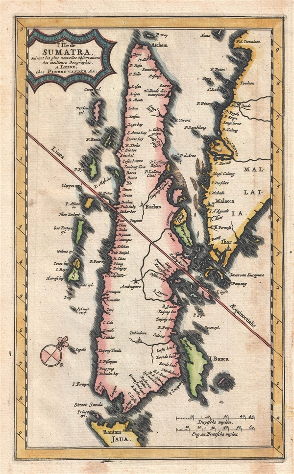 L'Ile de Sumatra suivant les plus nouvelles observations des meilleurs geographes.