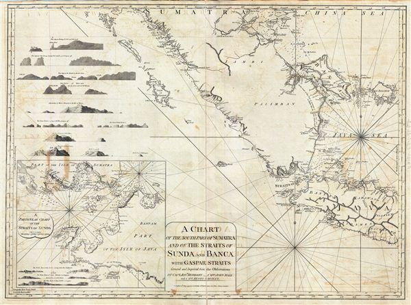 A Chart of the South Part of Sumatra and of the Straits of Sunda and Banca with Gaspar Straits. - Main View