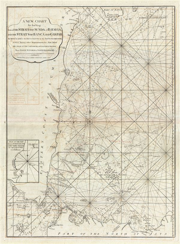 A New Chart for Sailing between the Straits of Sunda or Batavia and the Strairs of Banca and Gaspar.