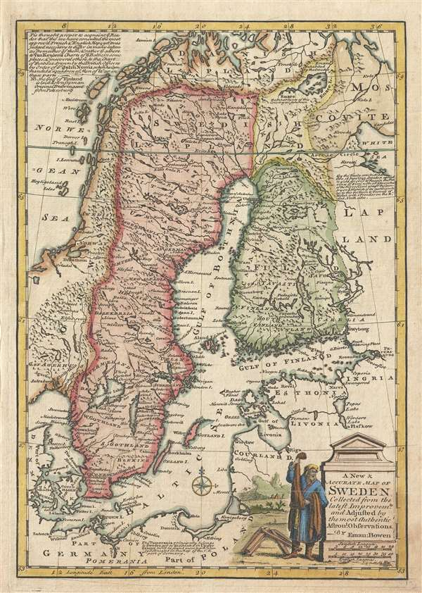 A New and Accurate Map of Sweden. - Main View