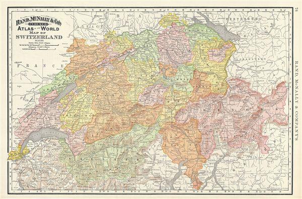 Map of Switzerland. - Main View