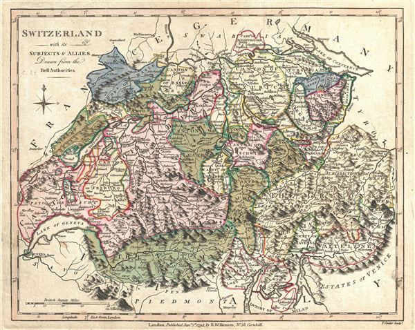 Switzerland with its Subjects and Allies Drawn from the Best Authorities. - Main View
