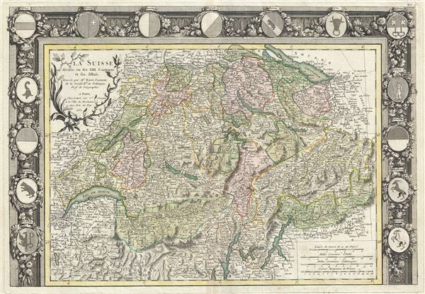La Suisse divisee en ses XIII  Cantons et ses Allies.