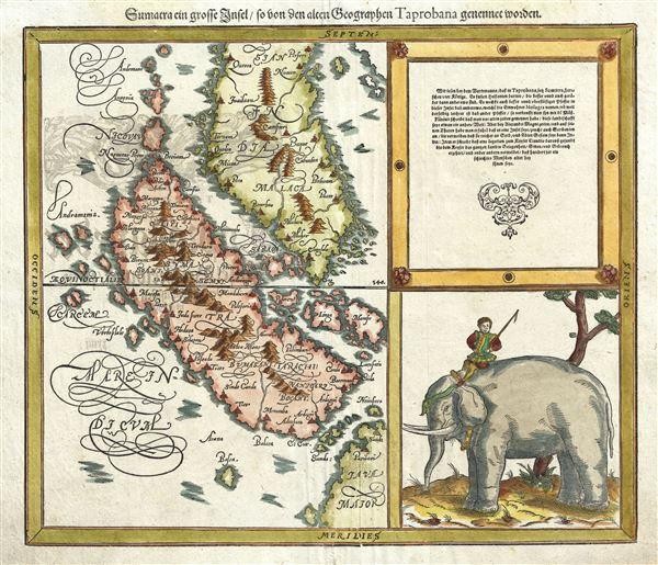 Sumatra ein grosse Insel so von den alten Geographen Taprobana genennt worden. - Main View