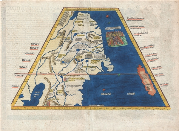 Map Of Asia Japan And China.Tabula Superioris Indiae Et Tartariae Majoris Geographicus Rare