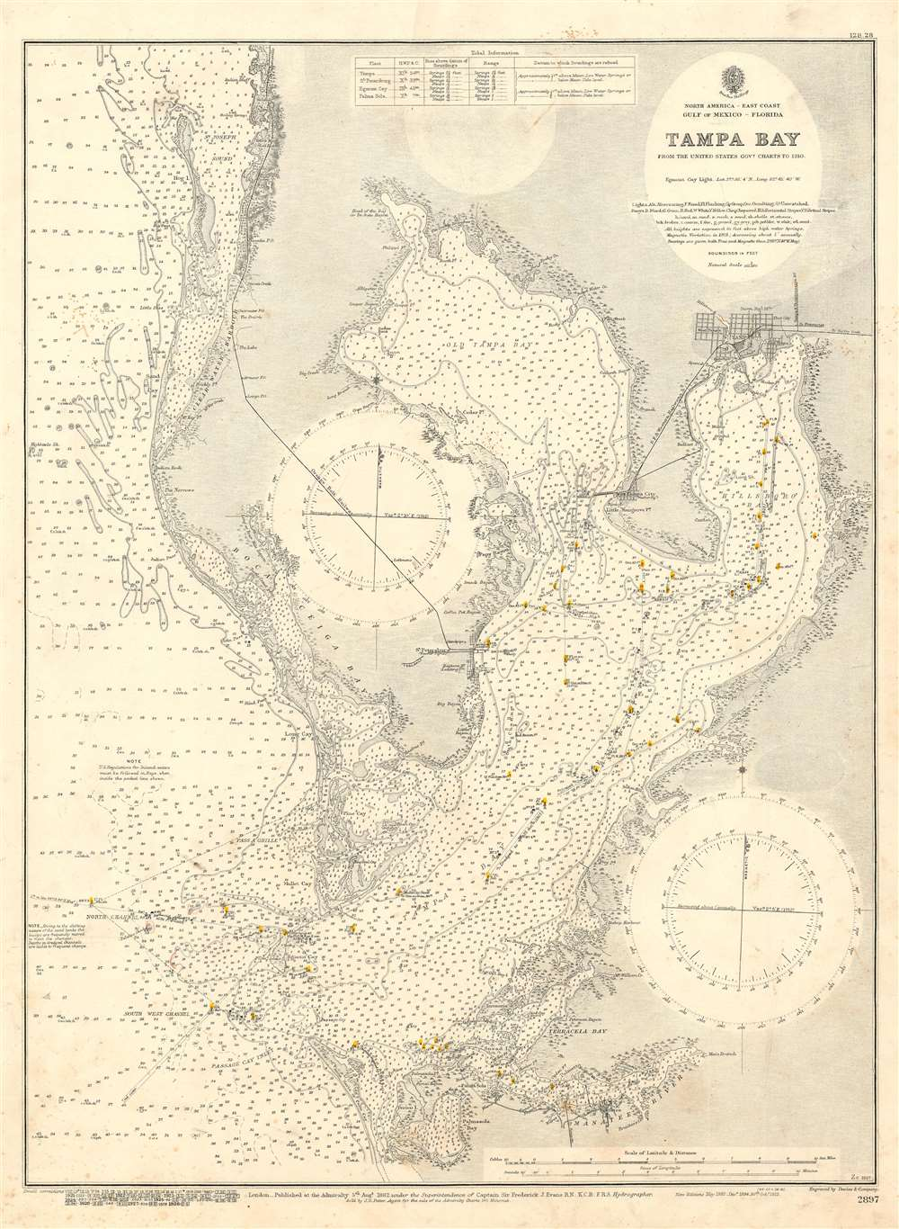 Tampa Bay from the United States Govt. Charts to 1910. - Main View