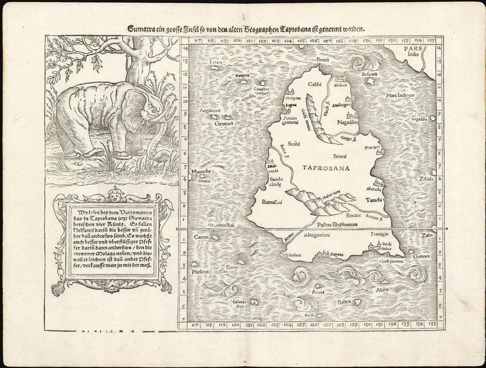 Sumatra Ein Grosse Insel, So Von Den Alten Geographen Taprobana, Ist Genent Worden. - Main View