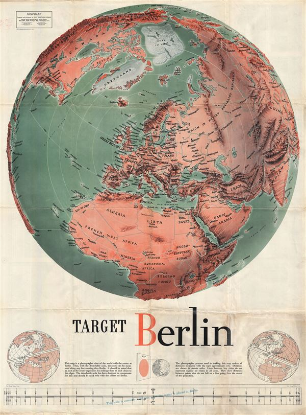Target Berlin / Newsmap. Monday, October 25, 1943, Vol. II No. 27