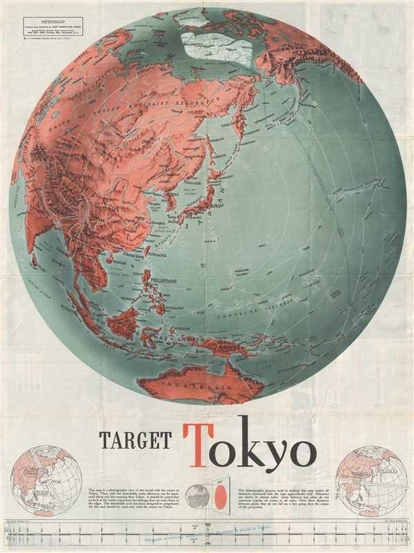Target Tokyo; Newsmap. Monday, October 25, 1943.