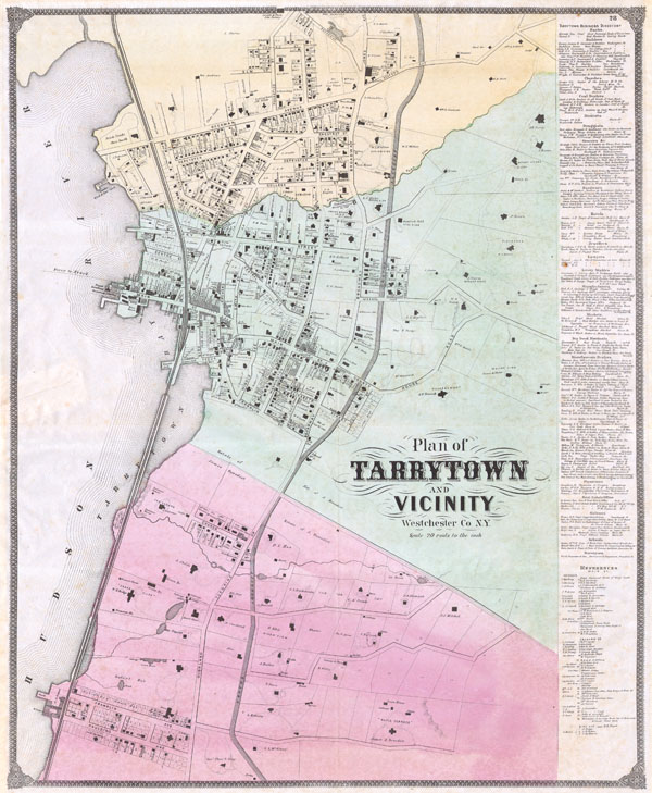 Plan of Tarrytown and Vicinity Westchester Co. N.Y.