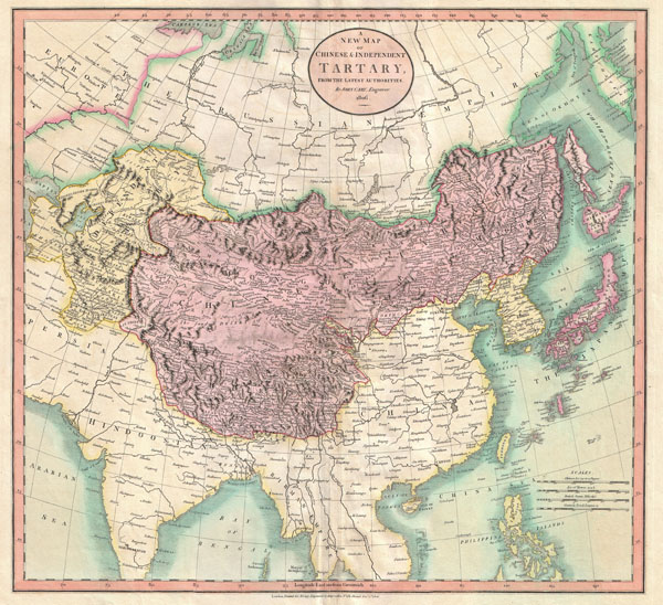 A New Map of Chinese & Independent Tartary , From the Latest Authorities.