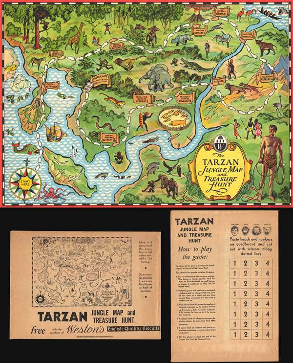 The Tarzan Jungle Map and Treasure Hunt