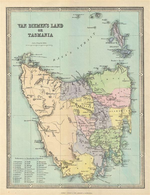 Van Diemen's Land or Tasmania.