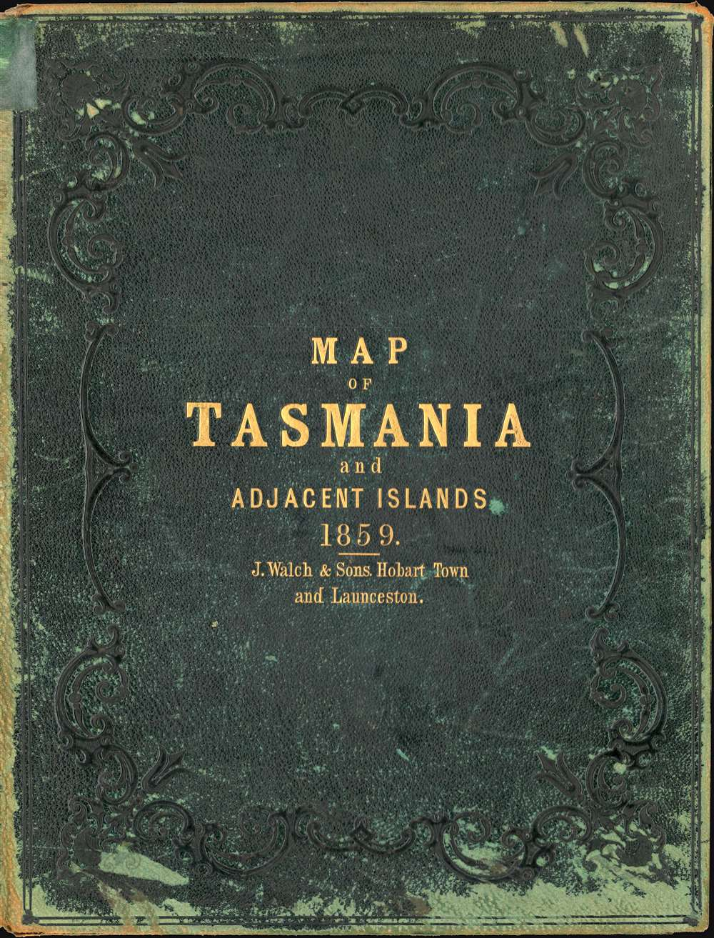 This Map of Tasmania in 1859, Sir Henry Edward Fox Young Knight Companion of the Most Honorable Order of the Bath Being Governor in Chief, and teh Honble. Francis Smigh Attorney General being Premier is dedicated to his Excellency and the Parliament by James Sprent, Surveyor General. - Alternate View 6