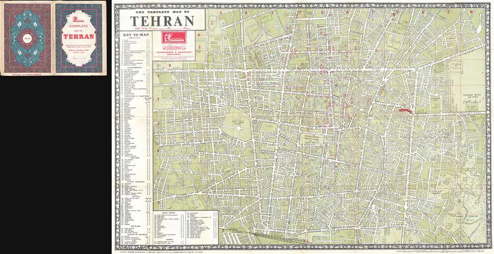 The Complete Map of Tehran.