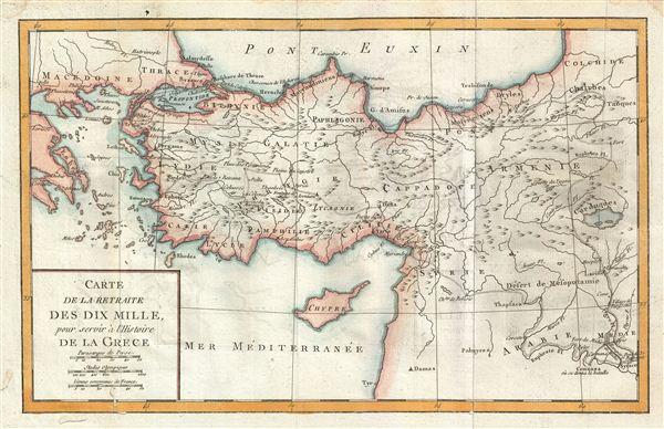 Carte de la Retraite des Dix Mille, pour servir a l'Histoire de la Grece.